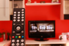 Remote control of LCD TV. Remote control of modern TV royalty free stock images