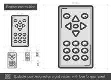 Remote control line icon. Stock Photos