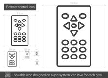 Remote control line icon. Royalty Free Stock Images