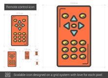 Remote control line icon. Stock Photo