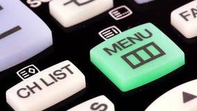 Remote control. Menu button stock video footage