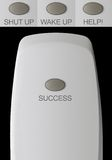 Remote control with one button. Success, and variants: Help!, Wake up, Shut up - isolated Royalty Free Stock Photography