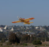 Remote control RC plane lands Royalty Free Stock Photo