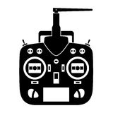 Remote control rc transmitter black icon Stock Images