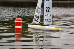 Remote Control Sail Boats royalty free stock photography