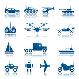 Remote control toys icon set. Set of remote control toys icon set Stock Photography