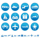 Remote control toys icons Stock Images