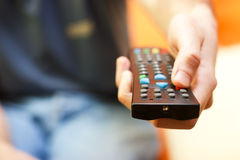 Remote control tv Royalty Free Stock Image
