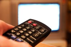 Remote control tv Royalty Free Stock Photography