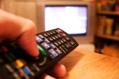 Remote control tv Stock Photography