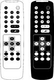Remote control the TV. Royalty Free Stock Photography