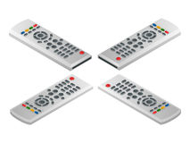 Remote control tv. Flat 3d vector isometric illustration. Royalty Free Stock Images