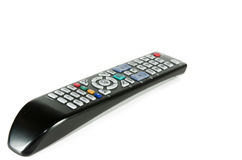 Remote control tv. Isolated on the white Royalty Free Stock Photos