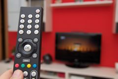 Remote control of TV Royalty Free Stock Image