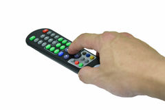 Remote Control TV Royalty Free Stock Images