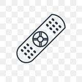 Remote control vector icon isolated on transparent background, l stock illustration