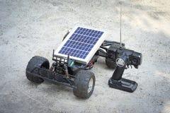 Remote control vehicles, prototypes of solar energy. Solar car Royalty Free Stock Photo