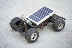 Remote control vehicles, prototypes of solar energy. Solar car Stock Photo