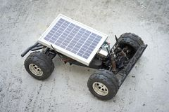 Remote control vehicles, prototypes of solar energy. Solar car Stock Images