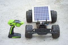 Remote control vehicles, prototypes of solar energy. Solar car Stock Photography