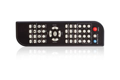 Remote control on the white. Stock Photos