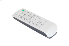 Remote control on white. Remote control for audio system on white background stock image