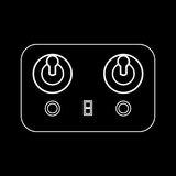 Remote control white color icon . Royalty Free Stock Photography