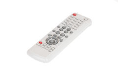 Remote control on white. Remote control for TV and dvd set on white background royalty free stock photos