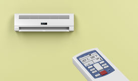 Remote controlled air conditioner Stock Image
