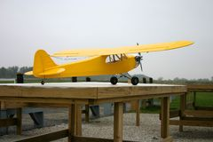 Remote Controlled Airplane. Piper Cub remote controlled airplane stock image