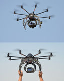 Remote controlled flying object Stock Image