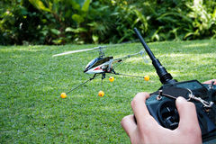 Remote controlled helicopter Stock Photo