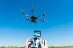 Remote controlled helicopter Royalty Free Stock Photography