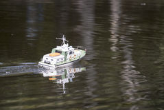 A remote controlled military speedboat Stock Photos