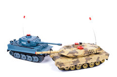 Remote-controlled model tank Stock Images
