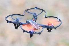 Remote controlled quadcopter drone Stock Image