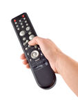 Remote controller in a hand Isolated Royalty Free Stock Photo