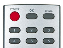 Remote controller isolated on white Stock Image