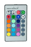 Remote controller for RGB LED lamp Stock Photo