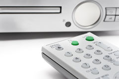 Remote Controller With DVD Player Royalty Free Stock Photos
