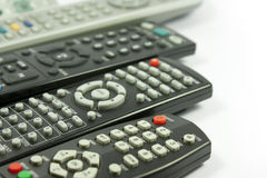 Remote controls. Remote control of home appliances Royalty Free Stock Photo