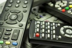 Remote controls. Remote control of home appliances Royalty Free Stock Images