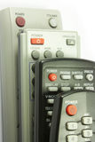 Remote controls. Remote control of home appliances Stock Photo