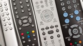 Remote controls Stock Image