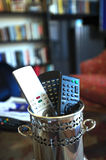 Remote controls at home Stock Images