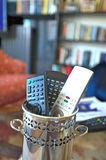 Remote controls at home Stock Photography