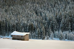 Remote cottage in the mountains Stock Photography