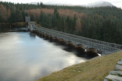 Remote Dam in Scotland. Old dam along a river in Scotland Stock Photography
