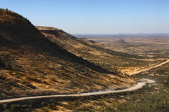 Remote desert road - Damaraland - Namibia Stock Images