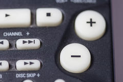 Remote. Detail of a black remote Stock Images